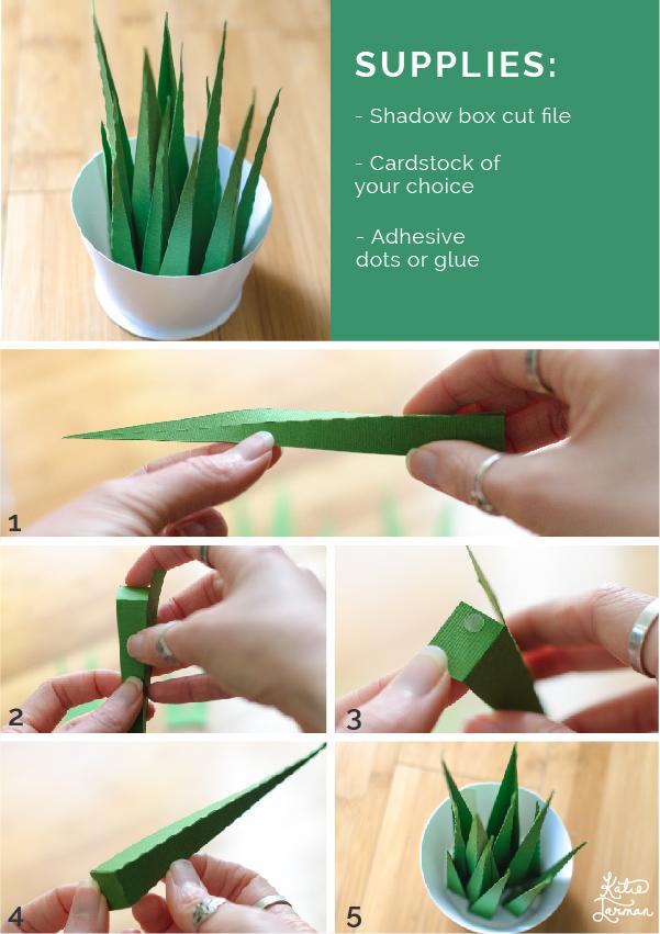 spiky paper houseplant_katie jarman steps