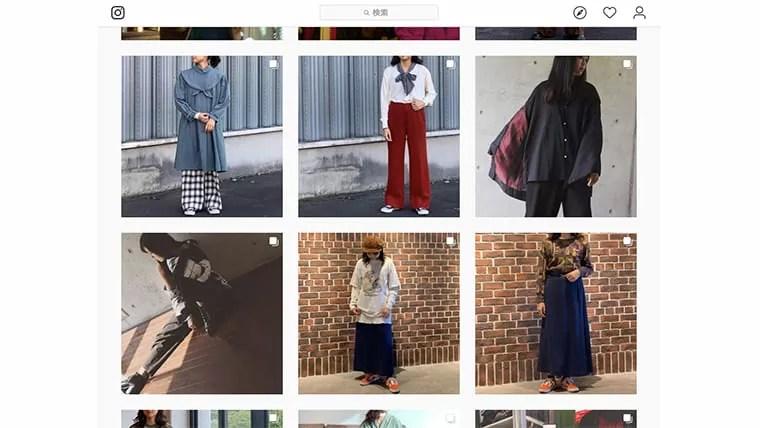 Instagram「古着 コーデ レディース」検索結果