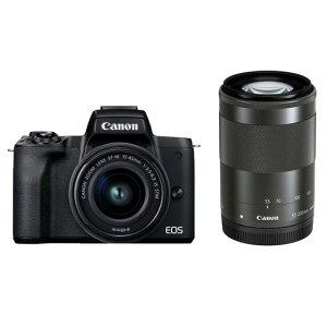 キヤノンミラーレスカメラ EOSKissM2・ダブルズームキット(ブラック) イメージ