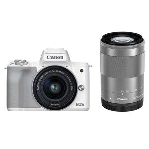 キヤノンミラーレスカメラ EOSKissM2・ダブルズームキット(ホワイト) イメージ