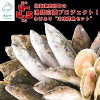 北海道鹿部町の漁師応援プロジェクト! 冷凍鮮魚セット(4~4.5kg)〔わけあり〕 イメージ