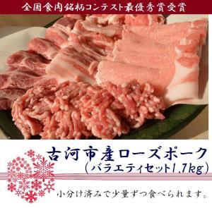 古河市産ローズポークバラエティセット1.7kg【全国銘柄食肉コンテスト最優秀賞受賞】