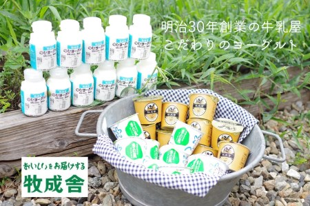 明治30年創業の牛乳屋の牛乳屋の飛騨産生乳で作る ヨーグルト盛りだくさんセット イメージ