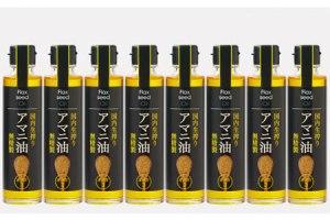 アマニ油(国内生搾り無精製品・140g×8本)・通
