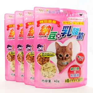 間食用キャットフード 納豆×乳酸菌(猫用) 4袋