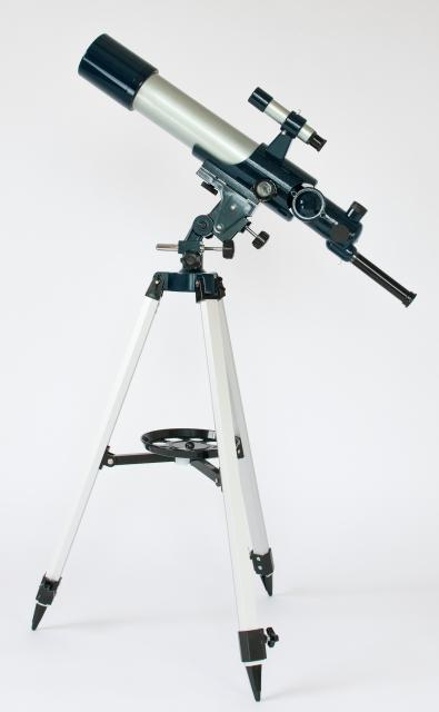 フリーストップ式経緯台で簡単操作できる対物レンズ50mm天体望遠鏡AZM-50 イメージ