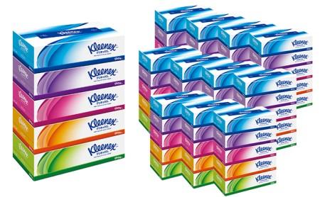 クリネックスティシュー 1ケース(5箱×12パック入り) イメージ