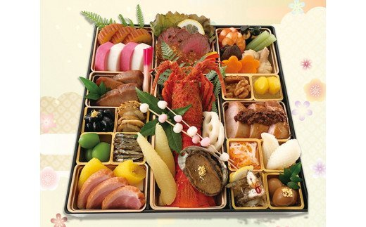 料理旅館呑龍のおせち料理(一尺一段重) イメージ