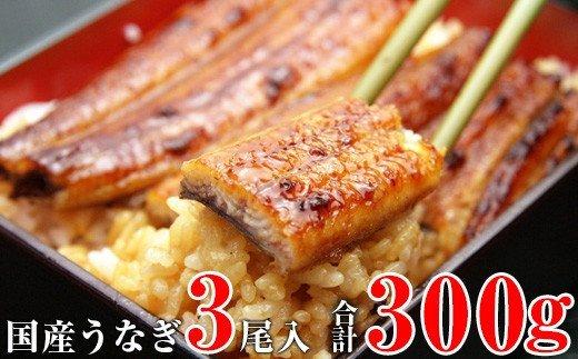 【うなぎ屋かわすい】国産うなぎ蒲焼3本300gセット イメージ
