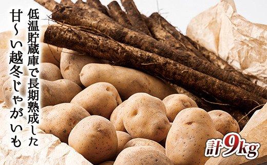 予約受付中 北海道産越冬インカのめざめ·メークインとごぼうセット<計9kg> ◆2022年2月発送