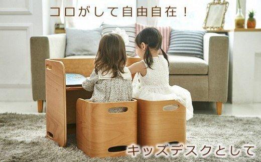 コロコロチェア&デスク・専用デスクマットセット (子ども向け椅子と机のセット) イメージ