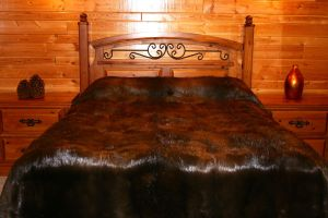 King, Queen & Custom Size Natural or Sheared Beaver Fur Blankets