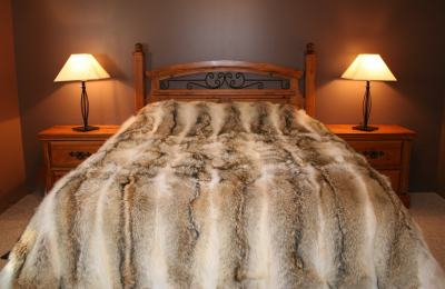 King, Queen & Custom Size Coyote Fur Blankets
