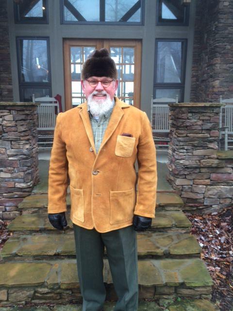 Custom Moose Hide Jacket & Otter Fur Hat
