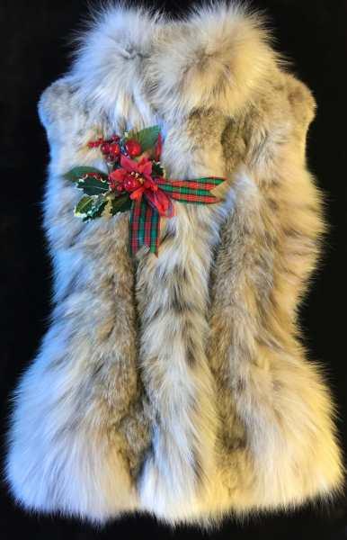 Natural Lynx Fur Vest