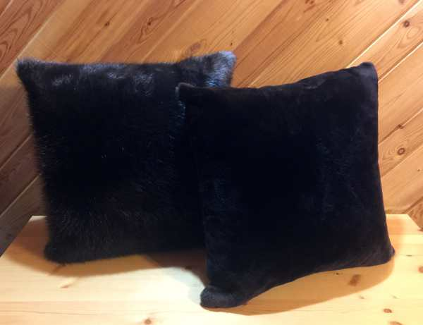 Natural and Sheared Beaver Fur Pillows