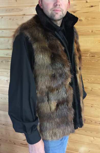 Men's Natural Beaver Fur Vest