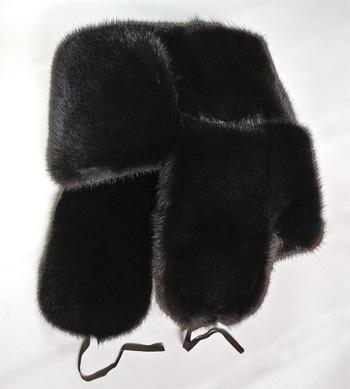 Mink fur ushanka hat