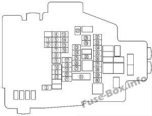 Fuse Box Diagram > Mazda 6 (GH1; 20092012)