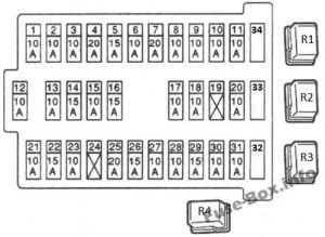Fuse Box Diagram > Nissan Almera II (N16; 20002006)