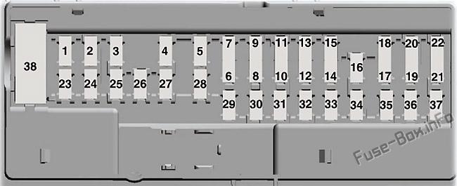 fuse box diagram ford galaxy / smax 20152019