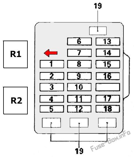 fuse box diagram mitsubishi pajero ii v20 19911999