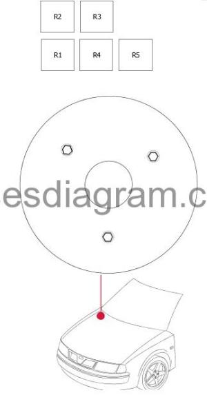 Fuse box diagram Alfa Romeo 33