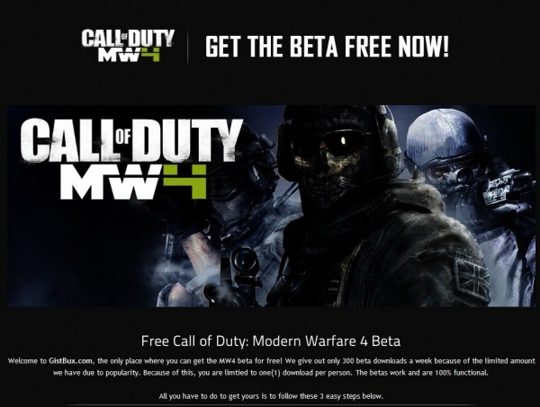 Modern Warfare 4 Beta