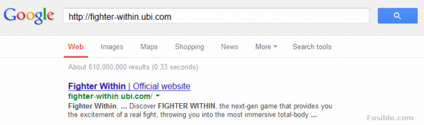 Fighter Within Official Website Google Search result