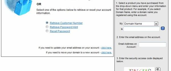 Go Daddy Account Retrieval System