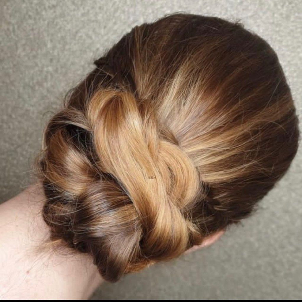 A prom hairstyle from Grimsby Hairdresser Fusion Hair Co.