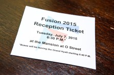 Fusion 2015 Reception Ticket