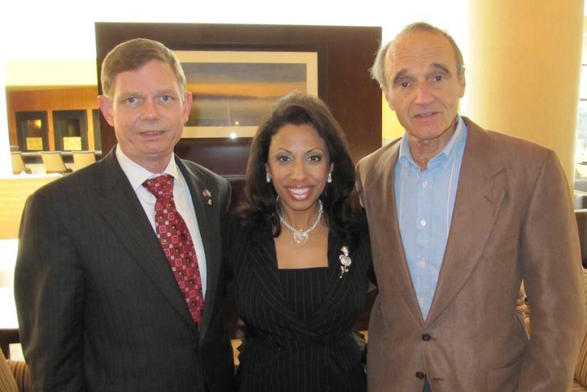 Tom Tamarkin, Brigitte Gabriel and Gerald Schroeder in Washington DC