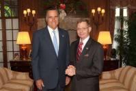 Mitt Romney and Tom Tamarkin