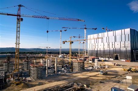 The ITER Tokamak Complex rises