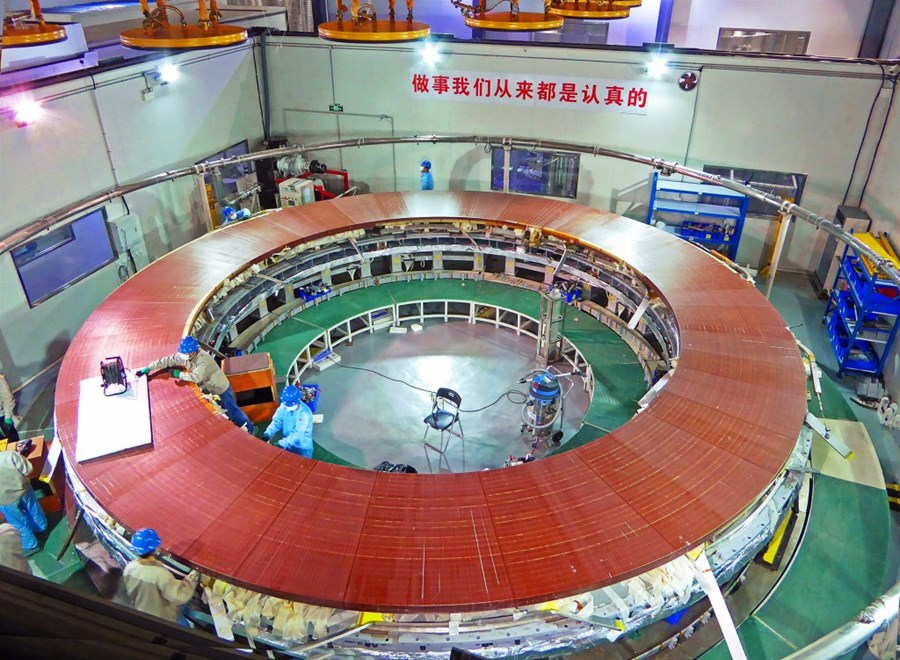 ITER magnets: 400-tonne coil taking shape in China