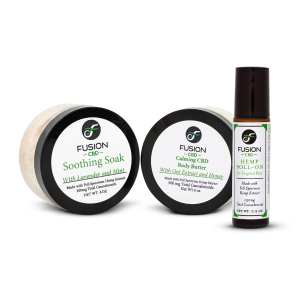 Hemp Roll-On + Calming CBD Body Butter + CBD Soothing Soak
