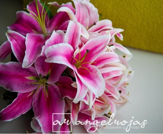 Stargazer bridal bouquet