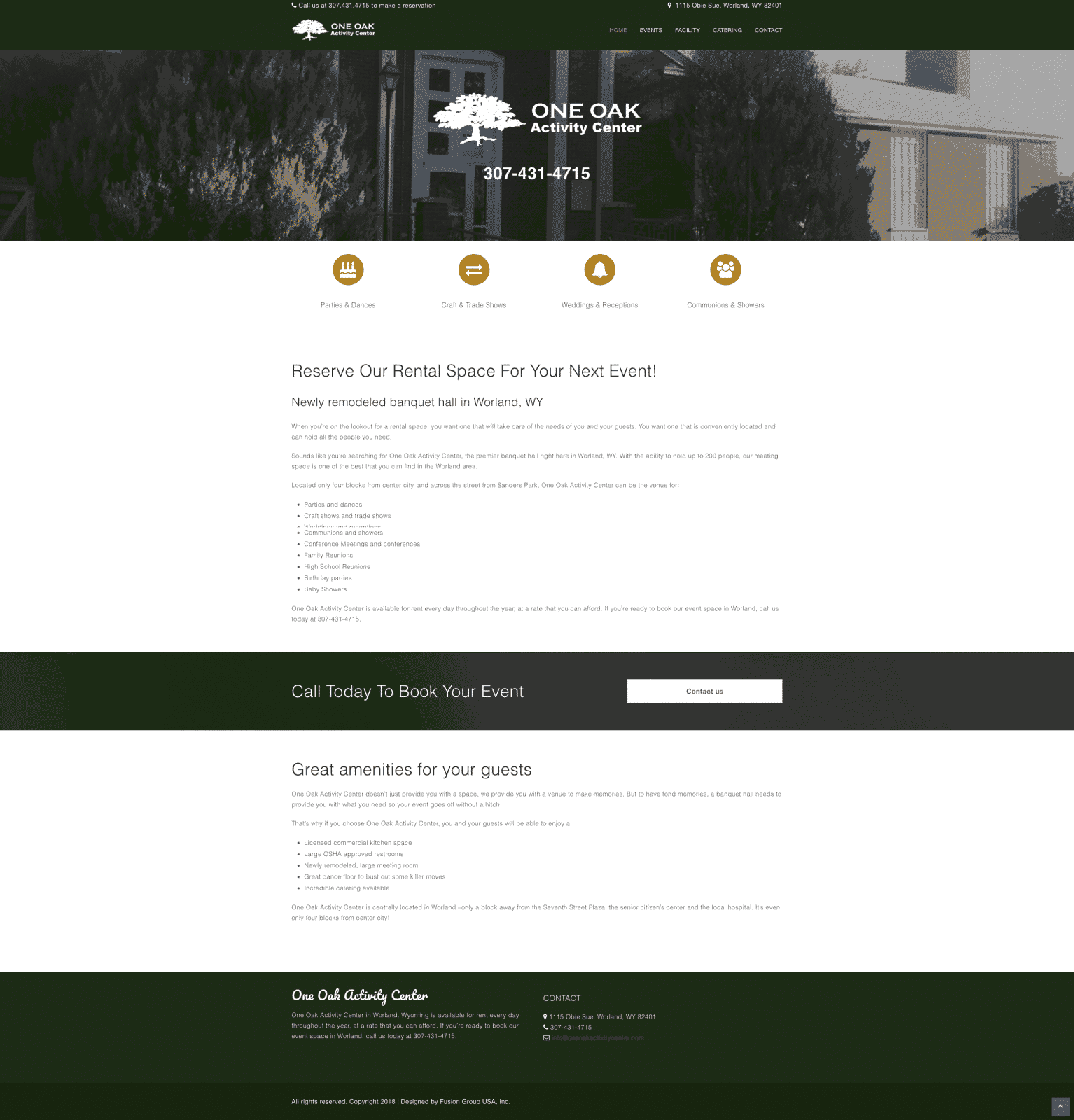 Event Rental Website Design