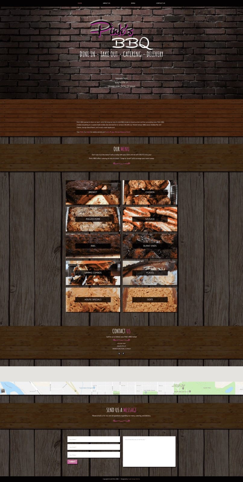 BBQ Restaurant Website Design
