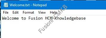 Sample file to upload to UCM for SOAP services in Fusion HCM Oracle HCM Cloud
