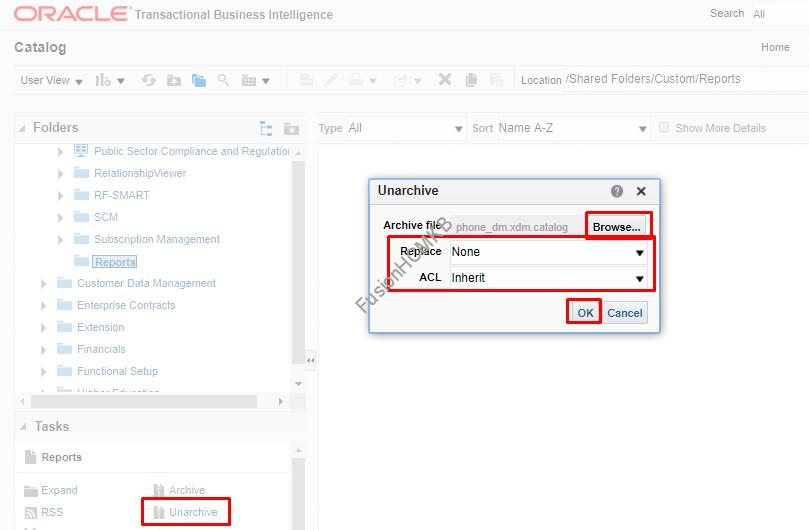 Unarchive options in fusion hcm oracle hcm cloud for bi report migration