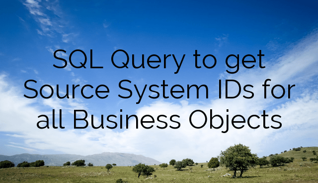 SQL Query to get Source System IDs for all Business Objects