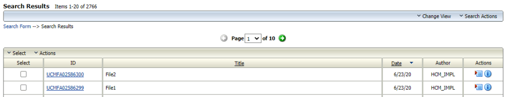Files uploaded to UCM and Content IDs are generated fusion hcm