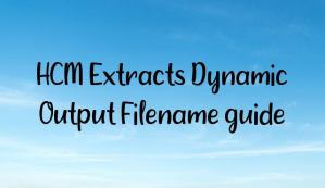 HCM Extracts Dynamic Output Filename guide