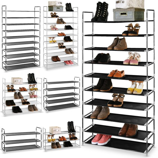 heavy duty shoe rack 3 tier 5 tier and 10 tier 2 colours
