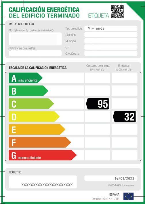 Certificado de calificación energética en edificios
