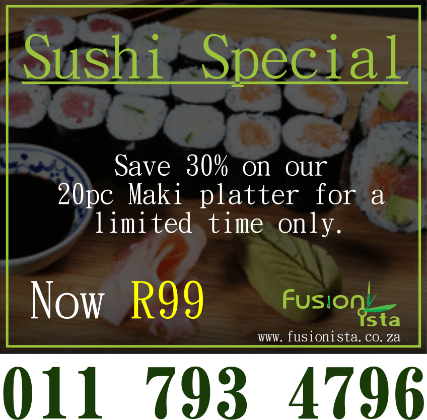 20pc Sushi Platter only R99