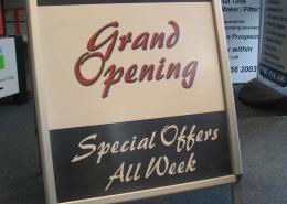 grand opening pavement sign