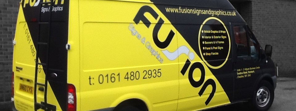 Vehicle wrapping from fusion signs and graphics